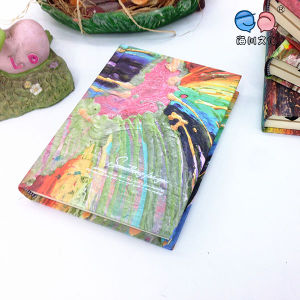 Oil Panting Series Round Back Notebook with Creative Color Inside Pages (XLJ64176-X05)