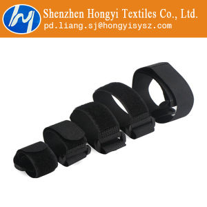 Black Nylon Hook & Loop Cable Tie Straps pictures & photos