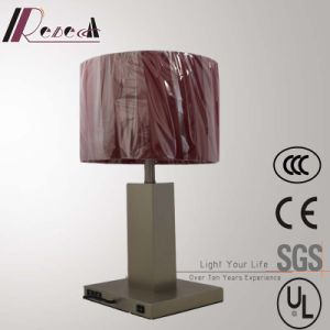 Matt Nickel Iron Bedside Table Lamp with 2PCS USB pictures & photos