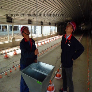 Prefabricated Poultry Control House with Full Set Automatic Poultry Farm Equipment pictures & photos