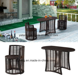 Top Quality Outdoor Patio Wicker PE-Rattan Garden Furniture Dining Set by Chair and Two Layer Side Table (YT591) Using for Balcony Set pictures & photos