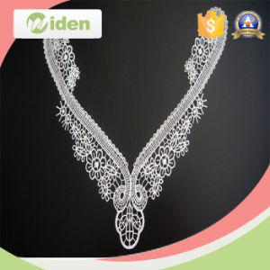 New Arrival Floral Pattern Swiss Embroidery Chemical Neck Lace pictures & photos