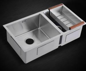 Handmade Sink Kitchen Sink Carved Kitchen Stainless Steel Sink (7843S) pictures & photos