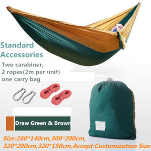 Carries Luxury High-Quaity Nylon Double Hammock with Carabiners pictures & photos