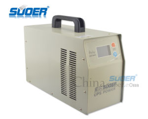 Suoer Superb Quality UPS Frequency 12V 2000W Pure Sine Wave Inverter with Charger 20A (HPA-2000C) pictures & photos