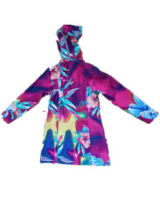 Colourful Hooded PVC Raincoat for Woman pictures & photos