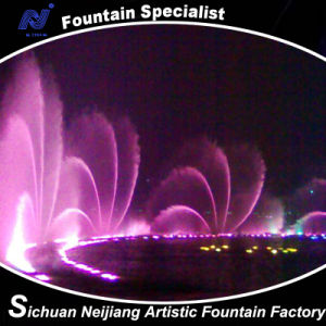 Music Dancing Fountain Colorful Lighting Fan Shape