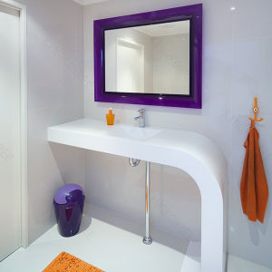 Modern Home Furniture Polished White Vanity Top pictures & photos