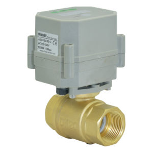 2 Way 1/2 Inch Automatic Drain Brass Valve Electric Control Timer Drain Ball Valve pictures & photos
