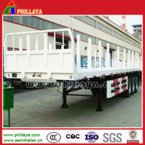 40ton-60ton Terminal Yard Highbed Truck 20-40FT Container Flatbed Semi Trailer pictures & photos