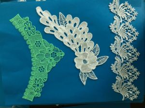 Personalized Water Soluble 3D Flowered Lace Polyester Lace Sequins Lace pictures & photos