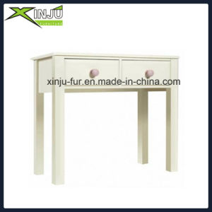 Wooden Whit Student Writing Desk with Painting