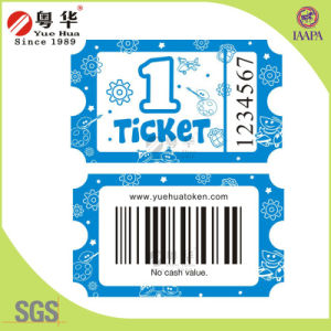 Hot Sale 160g/180g Wood Free Paper Raffle Ticket for Redemption Ticket Machine pictures & photos
