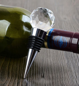 K9 Transparent Clear Crystal Glass Wine Bottle Stopper pictures & photos