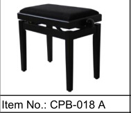 [Chloris] High Gloss Black Padded Seat Piano Stool Keyboard Bench Cpb-018A pictures & photos