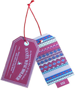 Beautiful Design of Paper Hangtag with String for Shoes pictures & photos
