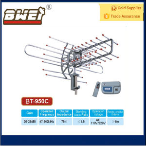 Outdoor UHF VHF Antenna Remote Control Rotated 360 Degrees with Cables pictures & photos