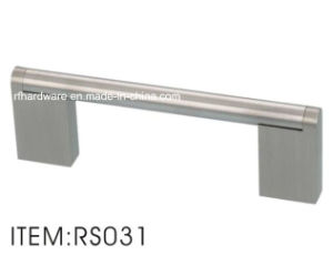 Stainless Round Pipe Handle with Zinc Alloy Flat Legs (RS031) pictures & photos