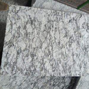 China Flamed Spray White Granite Tiles/Slabs for Stair Steps/Flooring Tiles pictures & photos