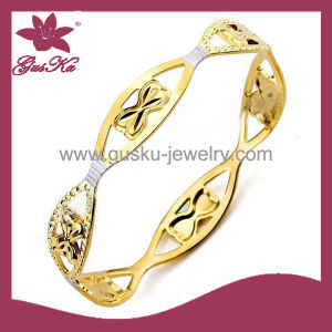 Unique Custom Fashion Jewelry 18k Gold-Plated Bracelet (2015 Gus-Cpbl-098g)