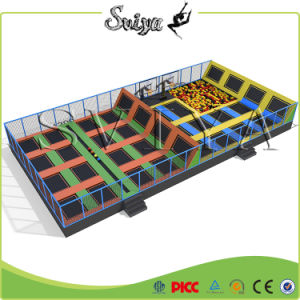 Rectangle Exciting Adult Jump Durable Warranty Indoor Trampoline Slam pictures & photos