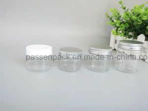 Round Plastic Jar for Cosmetic Cream with Metal Cover (PPC-PPJ-28) pictures & photos