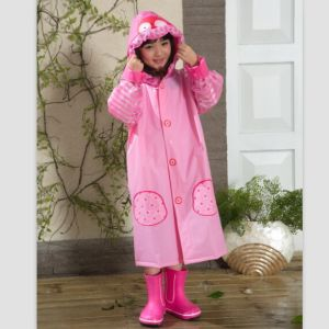 Pink Owl Kid PVC Rain Wear