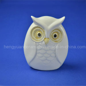Ceramic Gifts Lovely Owl White Glazed Home Decoration pictures & photos