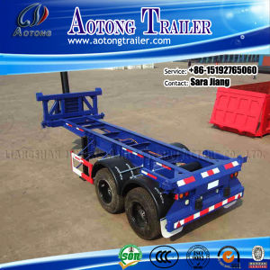 Two Axles 20ft Container Tipper Trailer Chassis for Sale pictures & photos