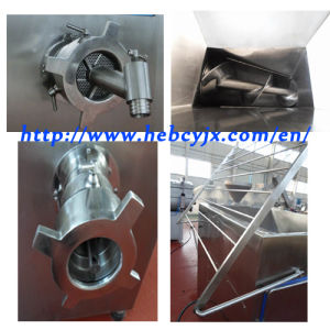 Double-Screw Chicken Meat Grinder Mincer Sjr130 pictures & photos