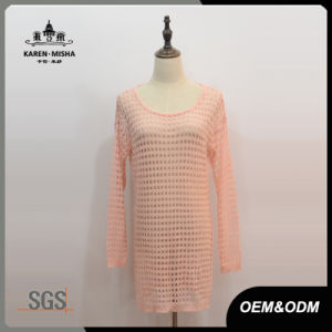 Women Lattice Long Knitted Dress pictures & photos