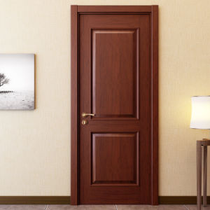 Oppein Walnut Solid Wood Interior Door for Bedroom (MSJD05) pictures & photos