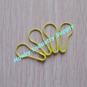 22mm Colored Pear Bulb Gourd Shaped Metal No Loop Coilless Safety Pin for Hang Tags (P160301D) pictures & photos