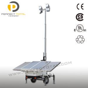 LED Mounted Trailer Solar Tower Light (SDE840-4L)