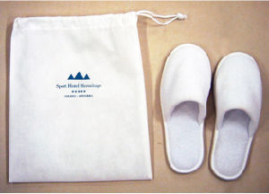 Hotel Slipper Bag with Customized Logo pictures & photos