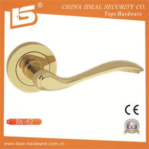 Brass Rosette Lock Door Handle-Ba62 pictures & photos