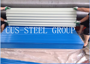 Gambia 0.15*665*2440 Prepainted Corrugated Roof Plates/Color Coated Roofing Sheet pictures & photos