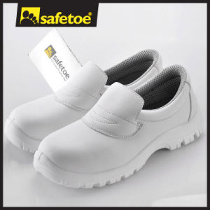 White Leather Anti-Static Medical Shoes for Women