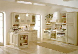 2015 New Modular Solid Wood Kitchen Cabients
