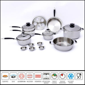 T304 Surgical Waterless Stainless Steel Cookware Set pictures & photos
