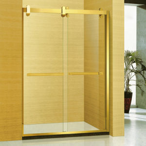 Luxury Golden 304 Stainless Steel Frame Bathroom Shower Screen (A-8954) pictures & photos
