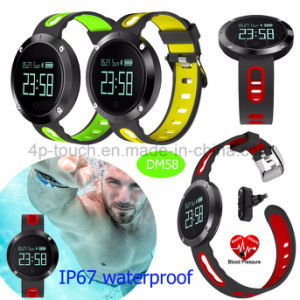 IP67 Waterproof Smart Bracelet with Heart Rate Monitor and Blood Pressure Monitor DM58 pictures & photos