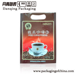 3-Side Seal Bag with Handle Coffee Bag Plastic Packaging pictures & photos
