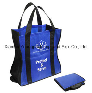 Promotional Custom Large Eco Friendly Non-Woven Polypropylene Fabric Reusable Grocery Bag pictures & photos