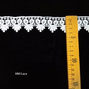 Hm Lace Scalloped Trim Lace Offwhite Flower Lace Trimming for Wedding pictures & photos