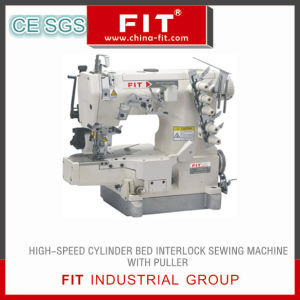 High Speed Cylinder Bed Interlock Sewing Machine with Puller (FIT600-Tl)