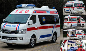 Foton Right Hand Drive Hospital First Aid Ambulance Car (BJ5039) pictures & photos