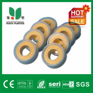 100% Yellow PTFE Tape High Density and Quality 12mm 0.1mm Viking and D&B Brand pictures & photos