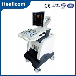Factory Price Trolley Color 2D Doppler Ultrasonic System Ultrasound Machine for Huc-600 pictures & photos