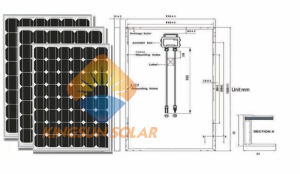 190-230W Mono Solar PV Panel with High Quality Made in China pictures & photos